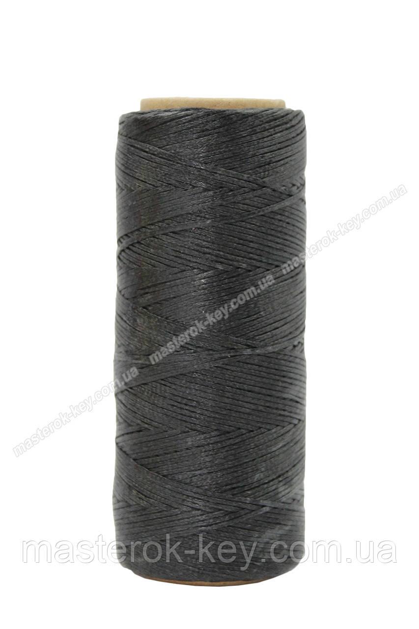Шнур плоский прошивочный вощеный 0,55мм*100м К114 цвет черный