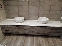 Столешница из искусственного камня под раковину в ванную комнату