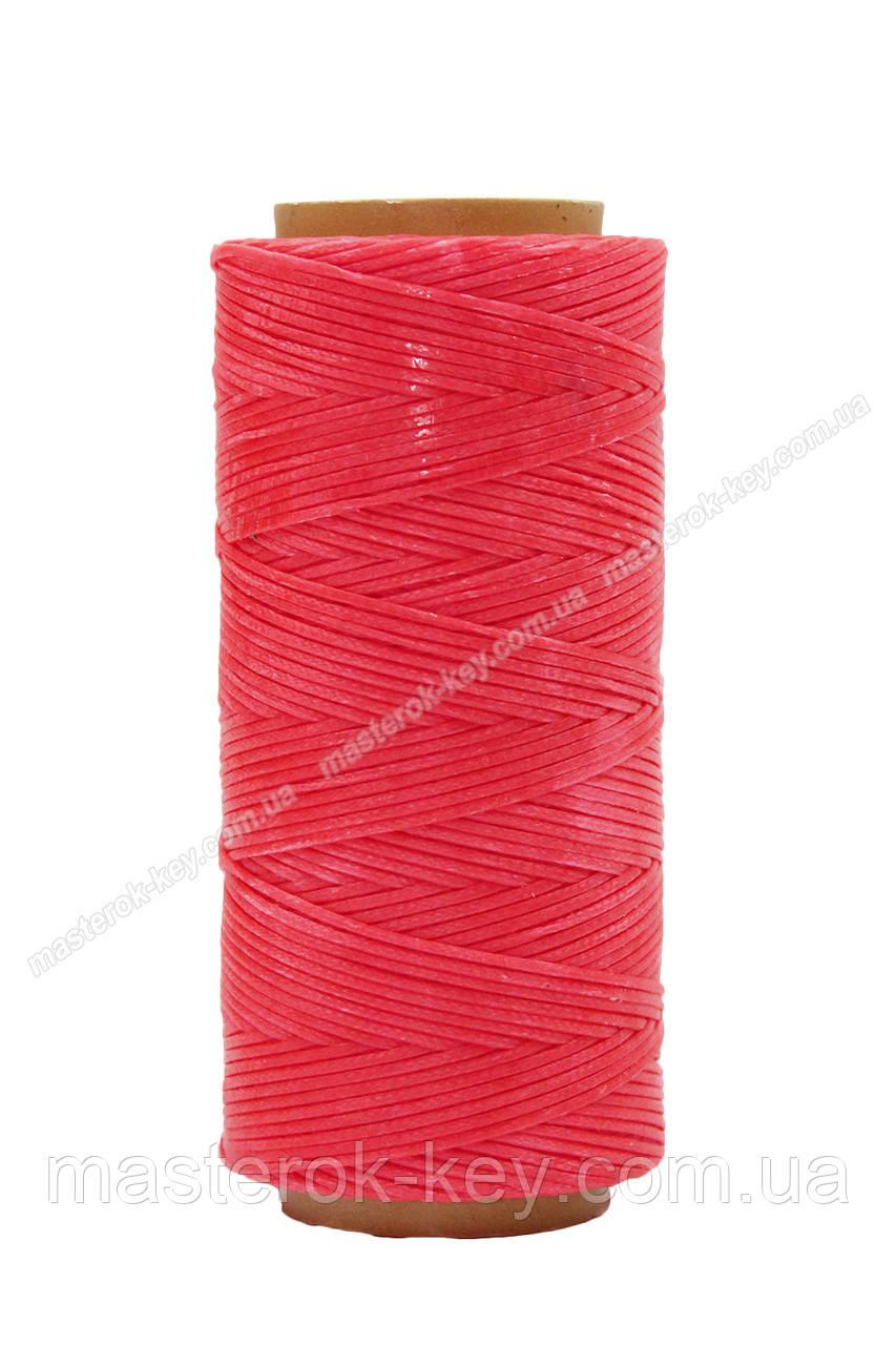 Шнур плоский прошивочный вощеный 1мм*100м К315 цвет розовый