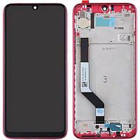 Оригинальный дисплей Xiaomi Redmi Note 7 с сенсорным экраном, с рамкой, Red