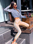 Спортивний костюм жіночий світловідбиваючий з рефлективної плащової тканини (в кольорах), фото 4