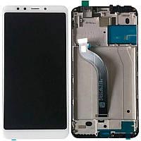 Оригинальный дисплей Xiaomi Redmi 5 Plus с сенсорным экраном, с рамкой, White