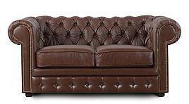 Шкіряний двомісний диван Честер Чикаго