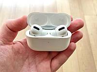 Бесроводные наушника Airpods Pro, вакуумные, настройки, датчик уха, GPS. люкс копия