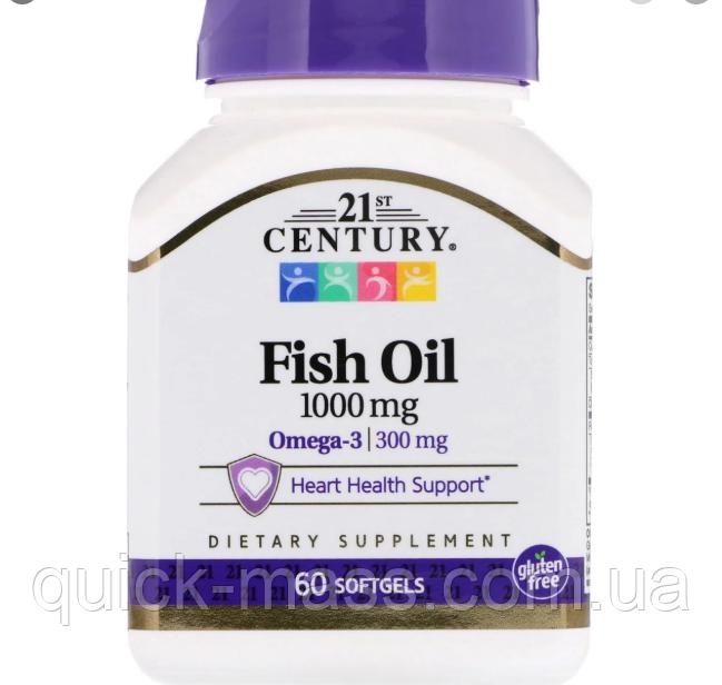 Омега-3 21st Century Fish Oil 1000mg 60caps