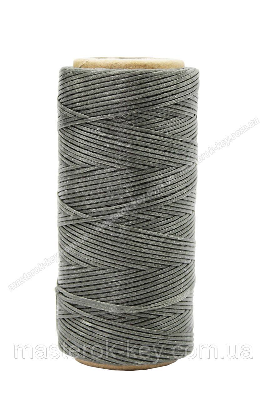 Шнур плоский прошивочный вощеный 0,8мм*100м К141 цвет темно серый