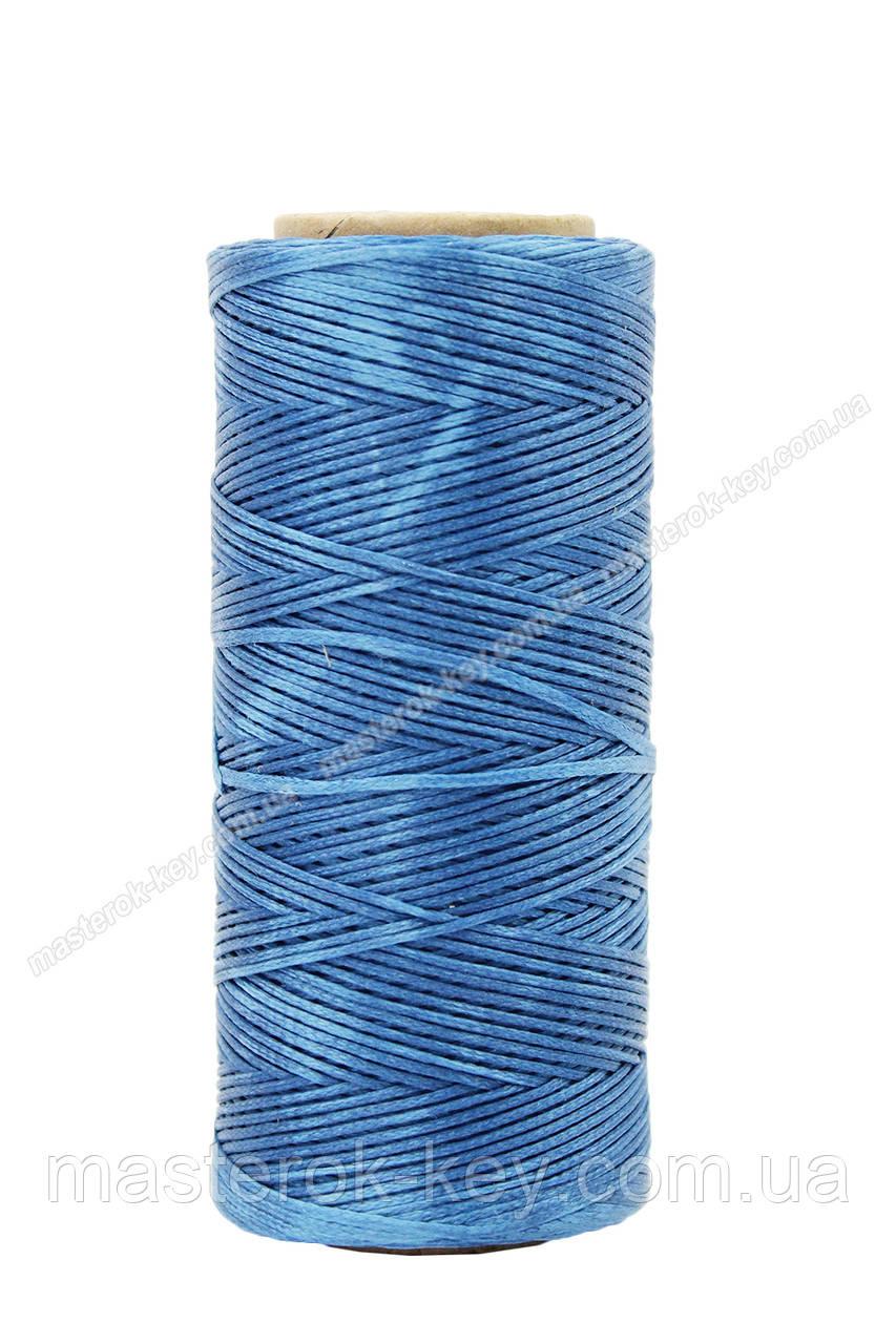Шнур плоский прошивочный вощеный 0,8мм*100м F76 цвет лазурный
