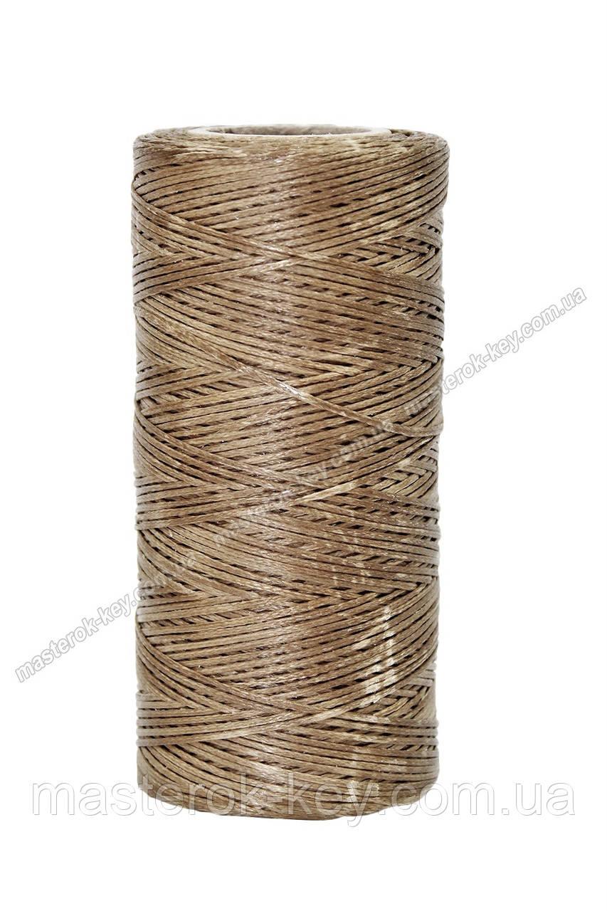 Шнур плоский прошивочный вощеный 0,8мм*100м К012 цвет болотный