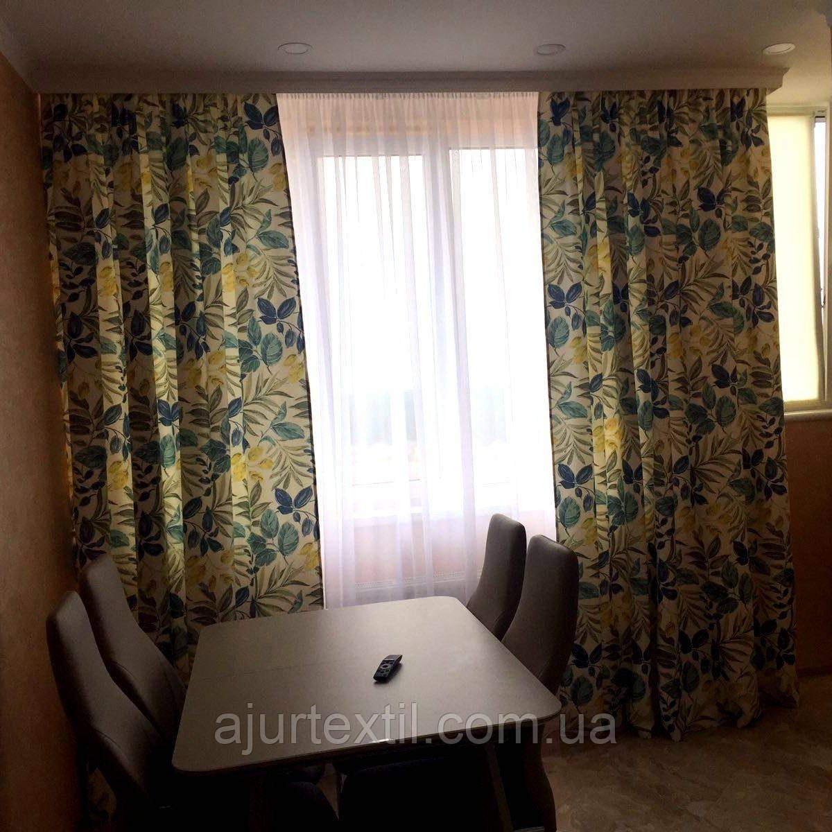 """Штора для зала, штора для спальни, штора для гостиной """" Альбиция"""" Турция"""