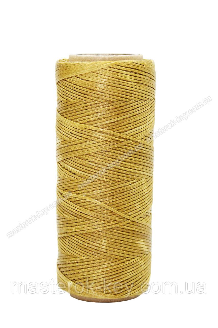 Шнур плоский прошивочный вощеный 0,8мм*100м А7 цвет светло коричневый