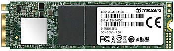 SSD накопичувач Transcend MTE110S 512GB NVMe M. 2 3D TLC (TS512GMTE110S) (6467804)