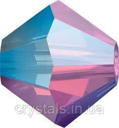 Хрустальные биконусы Preciosa (Чехия) 4 мм Amethyst Opal ABx2