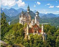 """Алмазная вышивка мозаика """"Сказочный замок Нойшванштайн Бавария Лето"""" полная выкладка 40 на 50 см"""