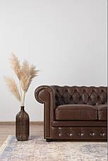 Кожаный двухместный диван Честер Чикаго, фото 3