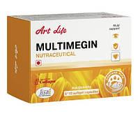 Мультимегин-Multimegin IND Омега-3 жирные кислоты, витамины и лютеин- способствует развитию организма ребенка