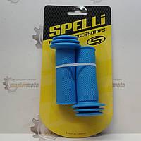 """Рукоятки руля для детского велосипеда 85мм синие """"SPELLI"""", фото 1"""