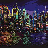 Картина по Номерам Ночной Нью-Йорк