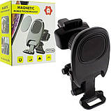Автомобільний магнітний тримач Primo H-CT182 для телефону на решітку - Black, фото 3