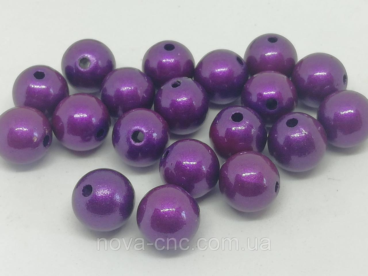 "Бусины пластик ""Шар гладкий"" фиолетовый 10 мм 500 грамм"
