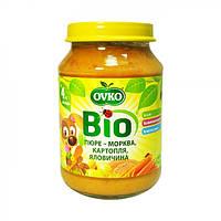 Пюре Bio органическое Морковь, картофель и говядина Ovko 190г