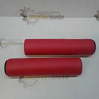 Рукоятки руля 130мм, пенорезиновые, красные велосипедные AOPERATE