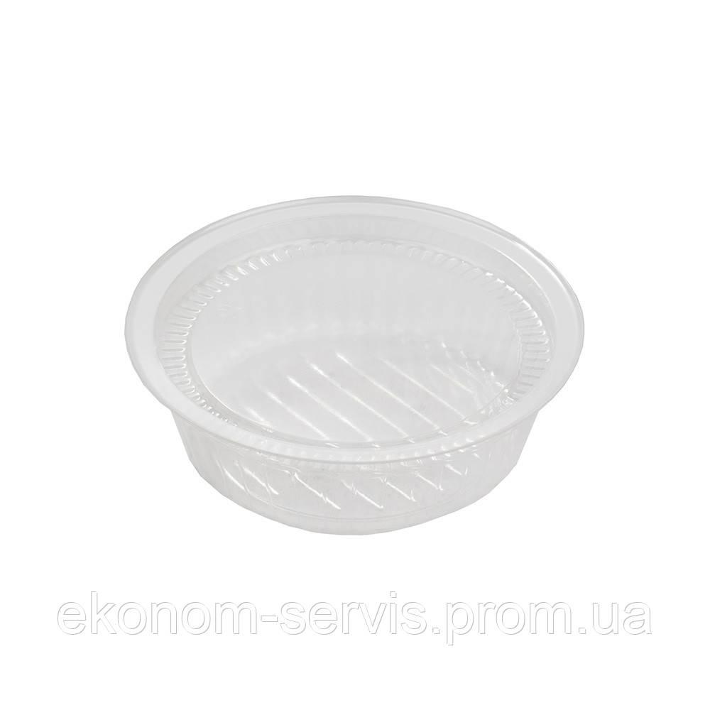 Соусница пластиковая c крышкой, ПС-42, 100мл, d-8,6см. h-2,7см фасовка 50 шт