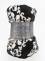 Плюшевый плед покрывало на диван 180x200см микрофибра LINA LEGRAND