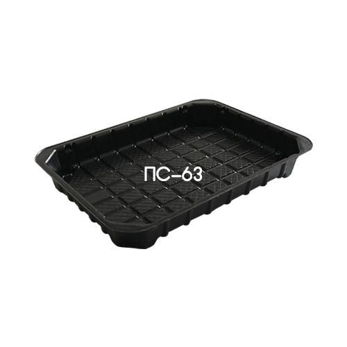Дно контейнера для суши и роллов ПС-63 - чёрное, 20 шт.