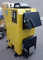 Инновационный отопительный котел на твердом топливе KRONAS EKO PLUS 24 кВт с автоматикой / Кронас Эко Плюс