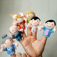 Пальчиковый детский кукольный театр Семья, 6 игрушек