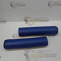 Рукоятки руля 130мм, пенорезиновые, синие велосипедные AOPERATE, фото 1