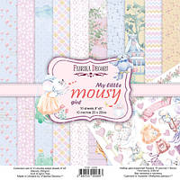 Набір двостороннього паперу - My little mousy girl - Fabrika Decoru - 20x20