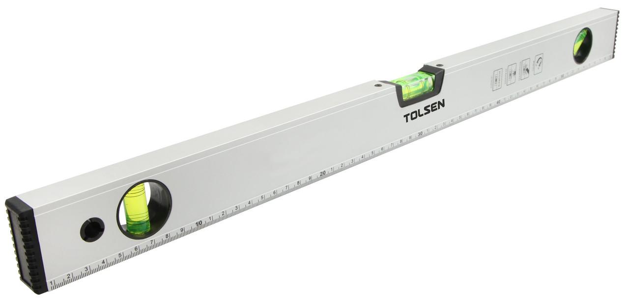 Уровень 80 см 3 капсулы алюминиевая рамка с магнитами Толсен
