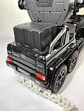 Толокар-электромобиль 2в1 с родительской ручкой M 3853EL, Черный, фото 6