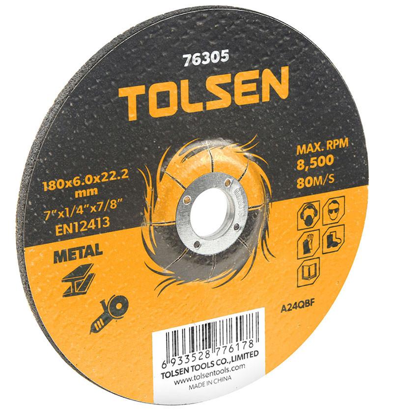 Диск шлифовальный по металлу 230х6.0 * 22.2мм Толсен