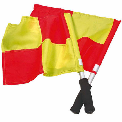 Флажок Лайнсмена Аматорский SELECT Lineman's flag Classic, 2 флага (231) желт/кр, фото 2