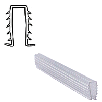 Уплотнитель мягкий для стекла душевой кабины П-образный ( ФС113)