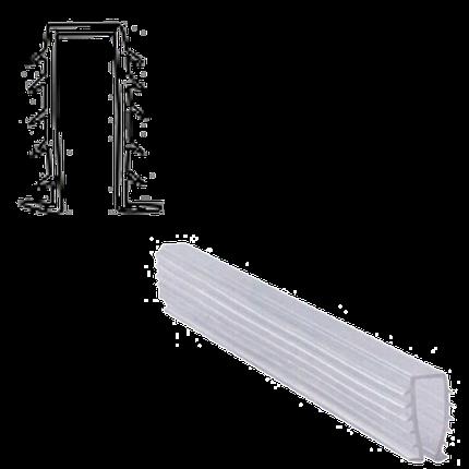 Уплотнитель мягкий для стекла душевой кабины П-образный ( ФС113), фото 2