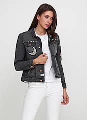 Женская джинсовая куртка Broken Arrow S Темно-серая 7170374-S, КОД: 1477874