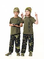 Футболка детская для мальчиков и девочек Army цвет Хаки