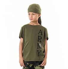 Футболка детская для мальчиков и девочек Army цвет Хаки, фото 2