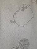 Хлопковый плед Светло-серые Коты 140 х 200, фото 2