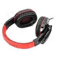 Игровые проводные наушники CHENYUN CY-519MV USB с микрофоном Черно-красный (imn5007hh)