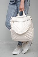 Сумка-рюкзак Sambag Трейси 30*31*15 см белый