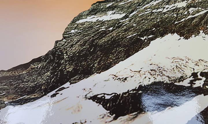 Наклейка на шкаф горы (самоклейка для шкафа скалолаз) 240 х 100 см с защитной ламинацией, фото 2
