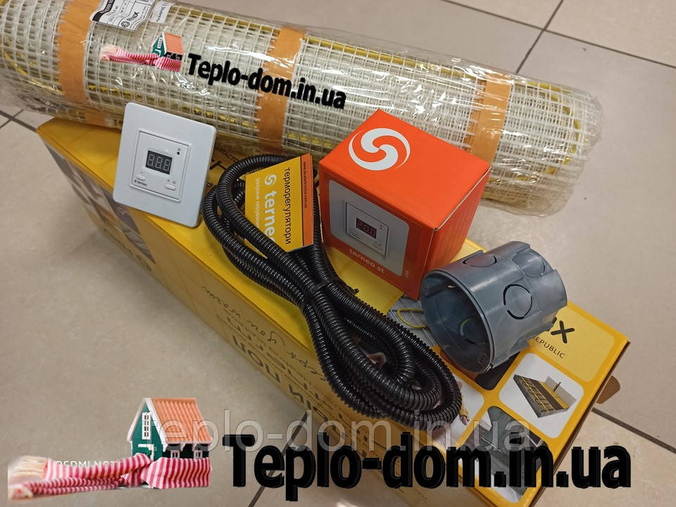 Двужильный електрический мат In-Therm 1080w (5,3 м.кв.) c цифровым Terneo ST