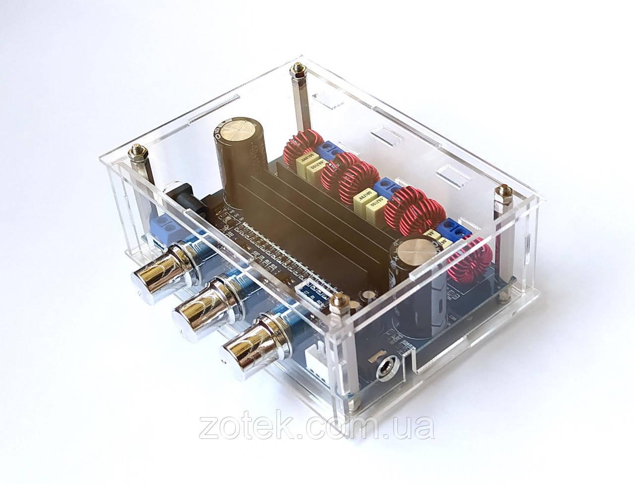 Аудио усилитель мощности XH-M139 SMD С КОРПУСОМ - TPA3116D2 50Вт*2+100Вт 2.1 DC 8-24В