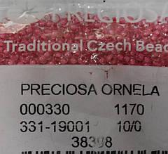 Бісер Preciosa 10/0 колір 38398 рожевий 10г