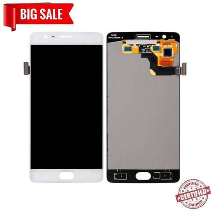 Модуль (сенсор+дисплей) для OnePlus 3 A3003 / 3T A3010 (OLED) білий, фото 2