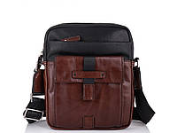 Мужская кожаная сумка через плечо Tiding Bag